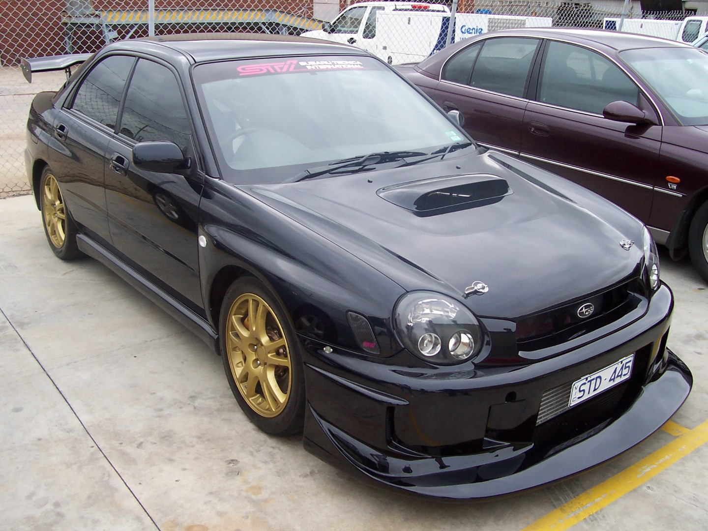 Bug Eye Subaru WRX STI Custom Fibreglass Splitter Spoiler Front Bar Undertray