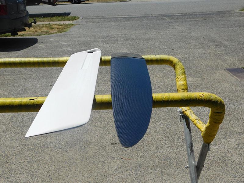 Fay Carbon Fibre Centreboard Foil Rudder Foam Sandwich A Class Paper Tiger Catamaran
