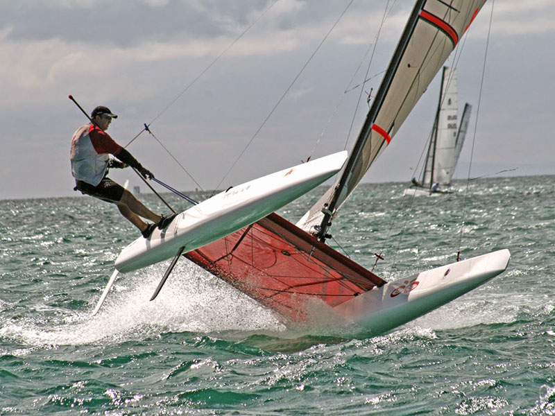 Carbon Fibre Foam Sandwich Tool A Class Racing Catamaran Built by Larry Fay 18ft 5.49m Boat